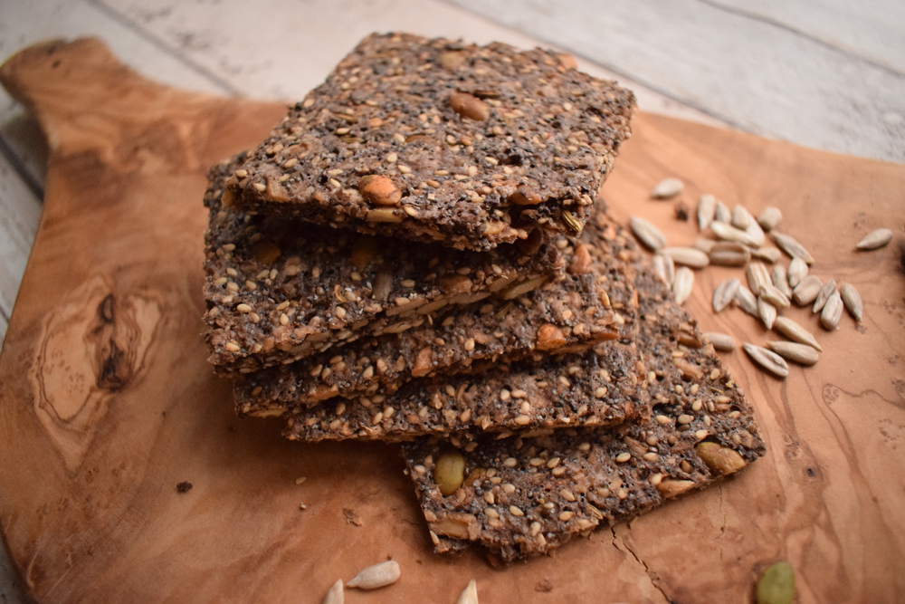 Baked Seed Crackers Recipe