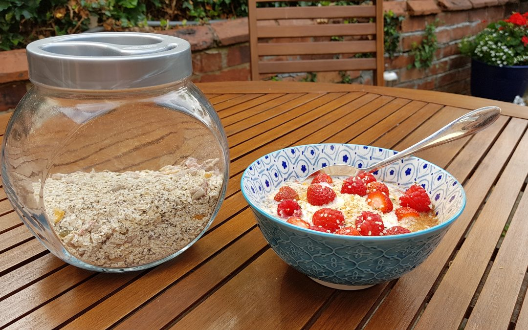 home-made instant Bircher muesli by Gayle Merchant Nutrition Northampton